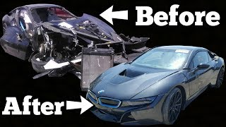 Auction BMW i8 Has the Most INSANE Coverup Job EVER! Rich Rebuilds ALMOST BOUGHT IT!