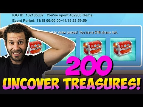 200 Uncover The Treasure Attempts For Skeletica ONETIME! Castle CLash