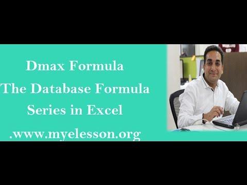 Dmax Formula  in Excel