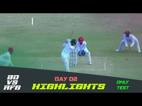 Highlights | Bangladesh vs Afghanistan | Day 02 | Test Series | Afghanistan tour of Bangladesh 2019