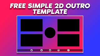 Free Simple Gradient 2D Outro #2 | D.U. Arts