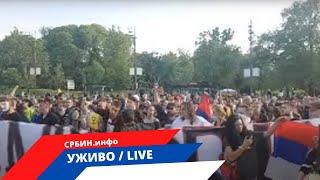 СРБИН.инфо ⓒ ✔ UŽIVO: Beograd - Nogo poveo narod , napeto kod Skupštine
