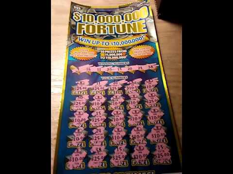 Florida Lottery Scratch Off 25 10 000 Dollar Fortune Manual Win All