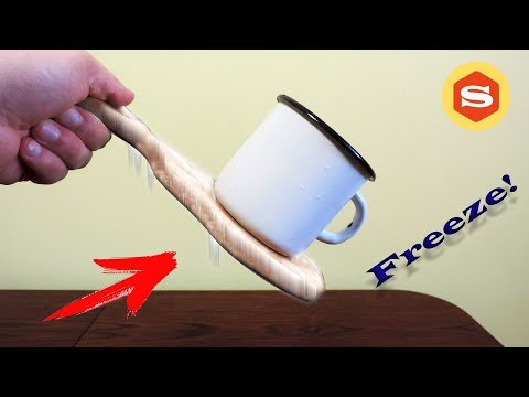 How to FREEZE a METAL CUP to a WOODEN BOARD. Awesome Magic Trick! #DIY