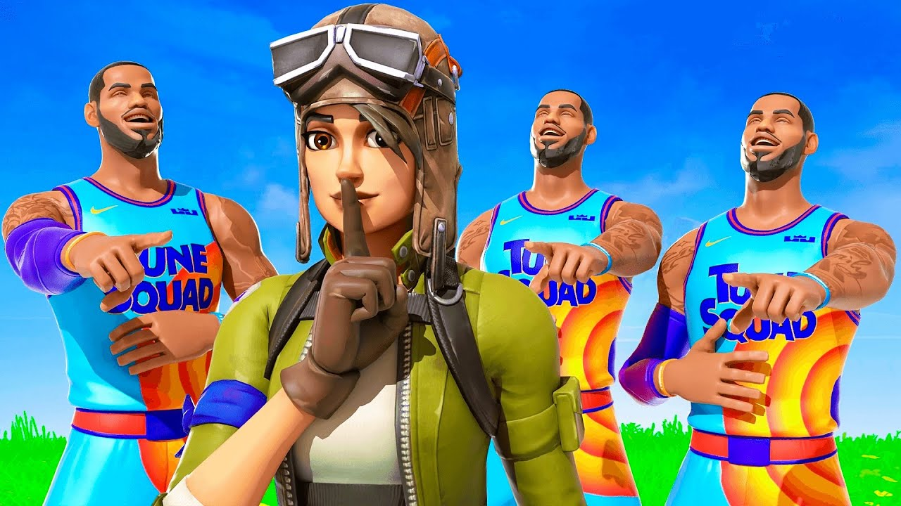this NEW LEBRON JAMES CLAN made fun of my NO SKIN, then showed my $100,000 Fortnite Account...
