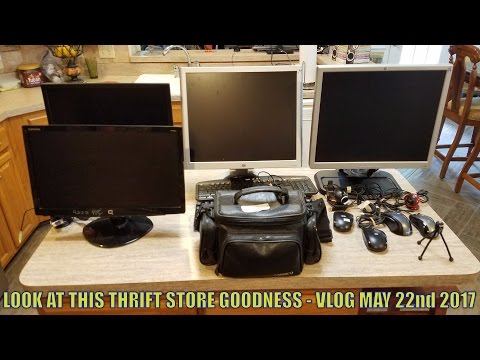 LOOK AT THIS THRIFT STORE GOODNESS - VLOG MAY 22nd 2017