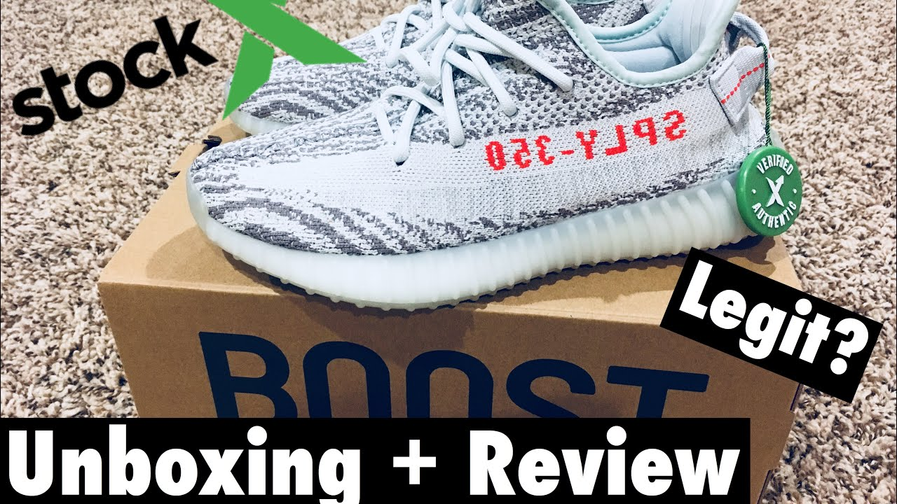 ae9d69bcb7021 Yeezy Boost 350 V2 Blue Tint (Unboxing + Review) StockX - YouTube