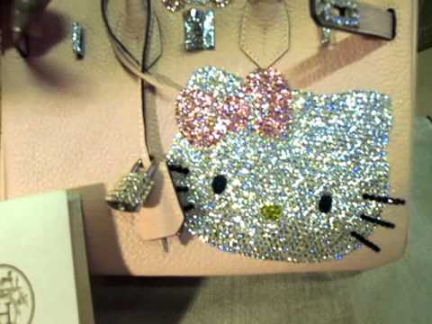 Hermes Birkin Hello Kitty With Bling Bling Swarovski crystal