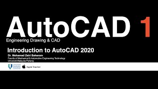 Download Introduction to AutoCAD 2020 (DMM1413 Engineering Drawing & CAD)