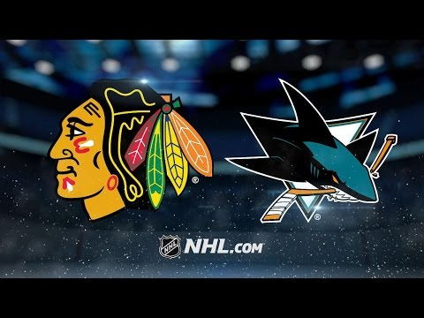 Hertl's late goal lifts Sharks past Blackhawks, 3-1