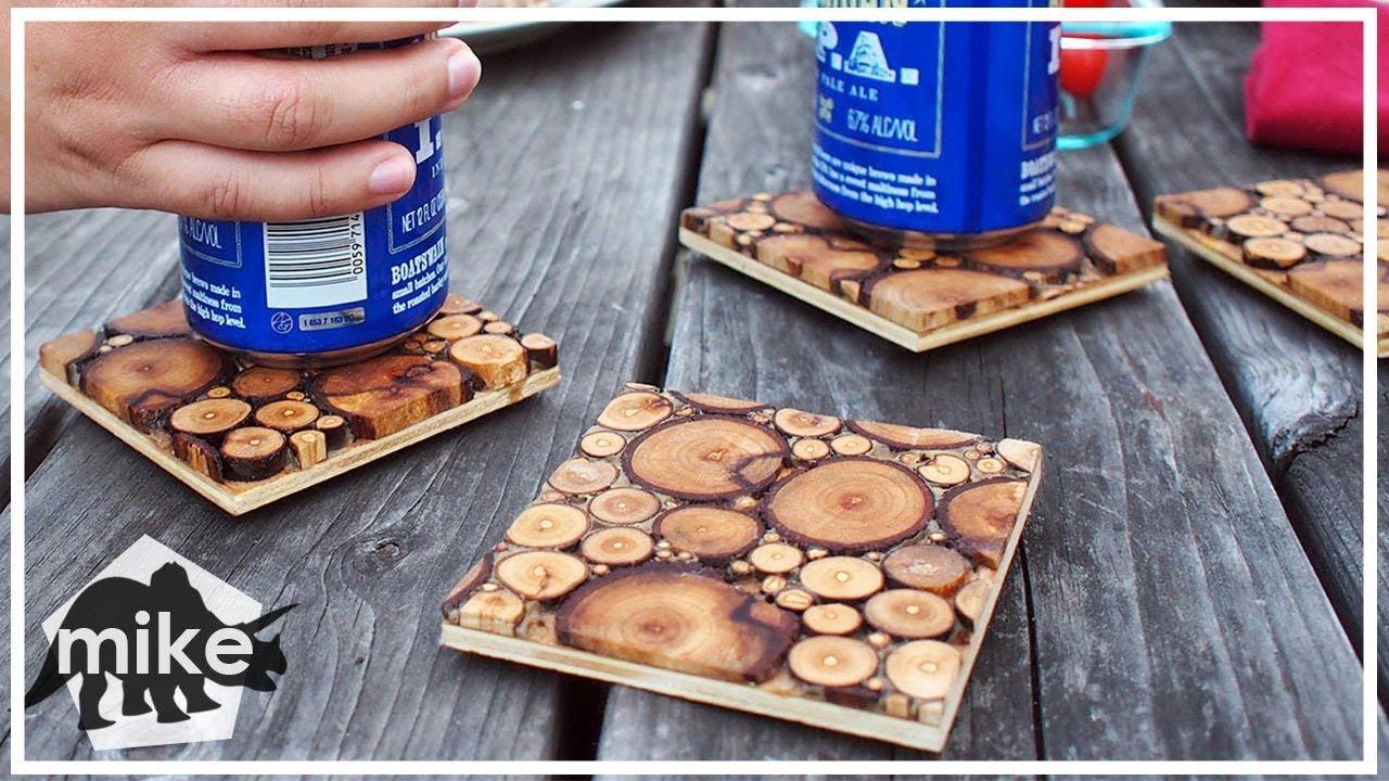 Sliced Wood Coasters Youtube