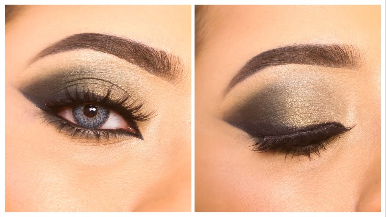 Green Smokey eye makeup tutorial || Simple easy eye makeup for beginners || Shilpa