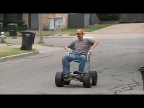 24v Power Wheels 4x4 Lawn Chair Prototype Youtube