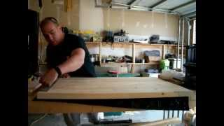 How To Build A Rustic Coffee Table Top.wmv