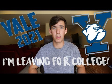 LEAVING FOR COLLEGE // YALE UNIVERSITY