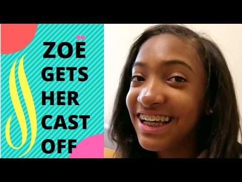 VLOG | Zoe Gets Her Cast Off! Gymnast Life