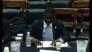 Thione Niang at  US Congress Judiciary committee on the Panel for Water for the World Act...
