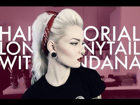Extra Long Ponytail With Bandana Katrin Berndt YouTube