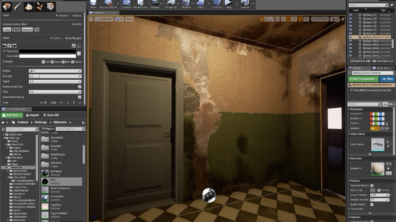 Lets paint old - Unreal Engine 4 Vertex Paint Shader