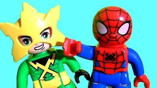 Electro in Slime ! LEGO Duplo Marvel Super Hero Adventures Spider-Man vs Electro