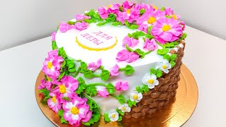 Торт для девочки крем БЗК Cake for girl protein custard