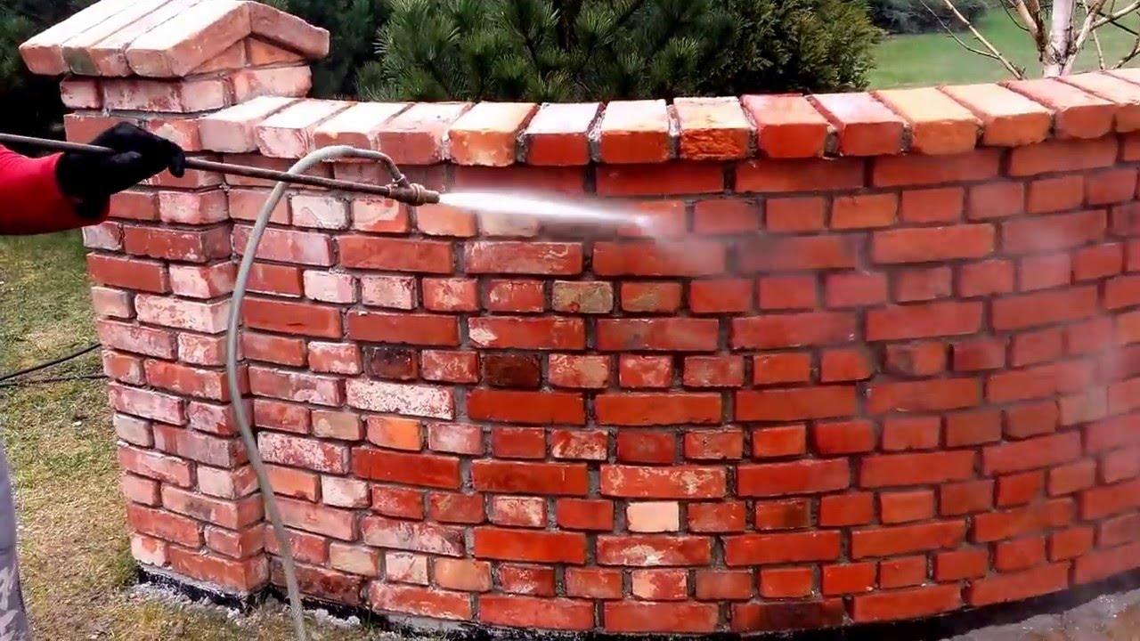 Nowość Hydropiaskowanie murku z cegły rozbiórkowej Klawikowski - YouTube HQ92