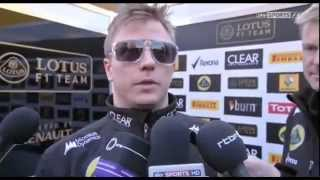 Kimi Räikkönen interview - Refuses to answer stupid question
