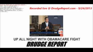 Nailed: Cruz vs Durbin Senate Floor Live Via Drudge Report - 9/24/2013