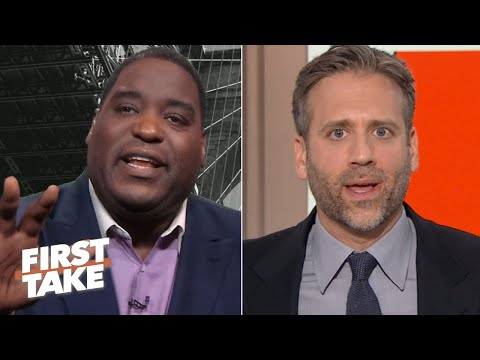 Why are you rolling your eyes at me?  Damien Woody and Max Kellerman get heated | First Take