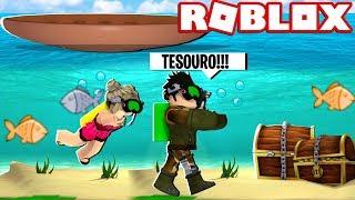 ACHEI UM TUBARÃO NO FUNDO DO MAR | Roblox - Scuba Diving at Quill Lake