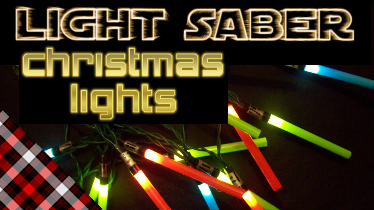 light saber christmas lights diy