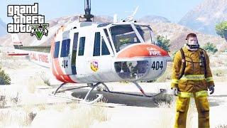 GTA 5 SP #56 - UH-1H Calfire Mod