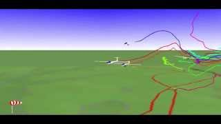 500km glider race visualization