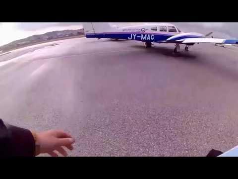 Amman cross country flight on multi engine aircraft
