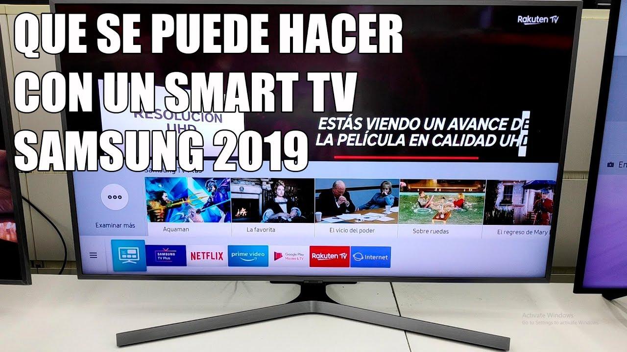 Que Se Puede Hacer Con Un Smart Tv Samsung 2019 Youtube