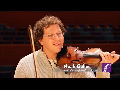 "Concertmaster Noah Geller plays his favorite moment from ""Don Juan."""