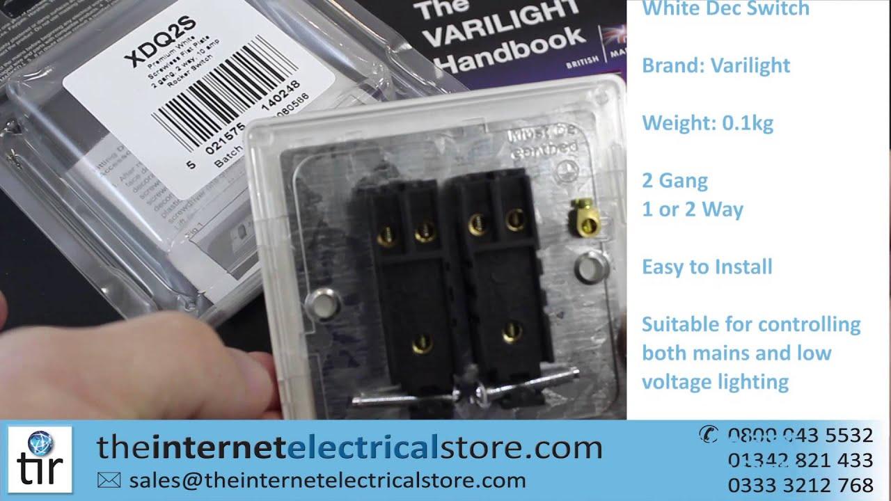 Varilight 2 gang 2 way 10a rocker light switch screwless premium varilight 2 gang 2 way 10a rocker light switch screwless premium white dec switch xdq2s asfbconference2016 Choice Image