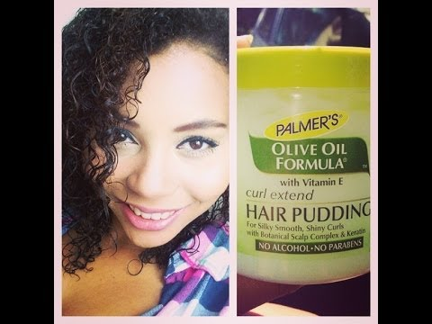 How to Stretch and Loosen CurlsPalmers Olive Oil Curl Extend Hair Pudding Review  YouTube