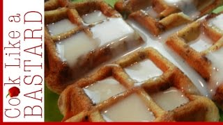 Easy Waffle Iron Cinnamon Rolls
