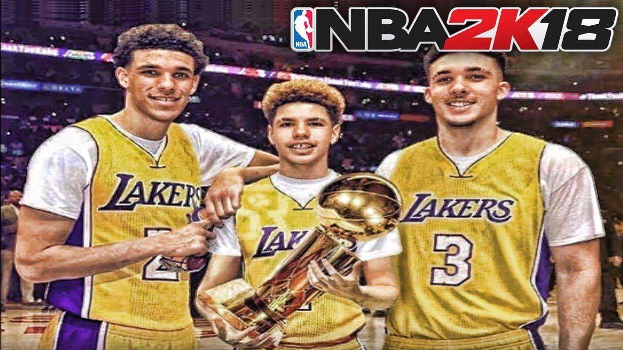Lonzo Ball Lamelo Ball >> BALL BROTHERS NBA 2K18 MYCAREER - LAVAR BALL, LONZO BALL, LAMELO BALL, LIANGELO BALL - YouTube