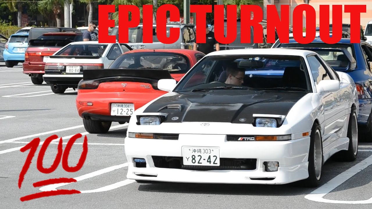 Jdm Legends Show Up For Cars And Coffee Okinawa Japan Youtube