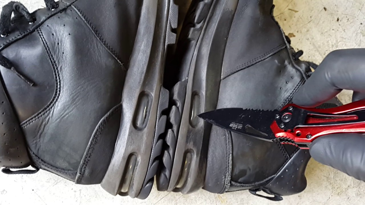 6c2ebb45a5f0 Popping The Air Max Bubble On Nike ACG Boots - YouTube