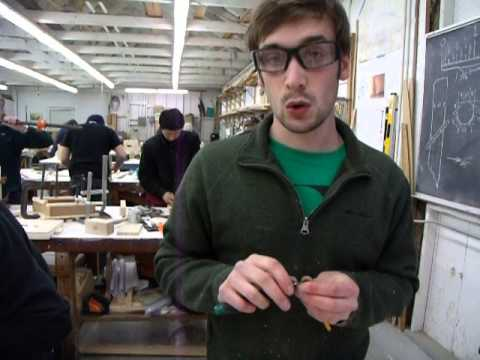 Learning to sharpen a pencil at the Northwest School of Wooden Boatbuilding
