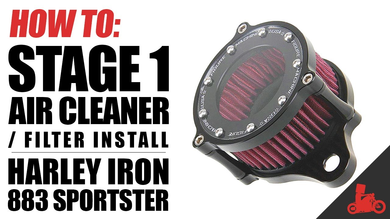 How To Stage 1 Air Cleaner Filter Install On Harley Sportster 1997 Carb Diagram