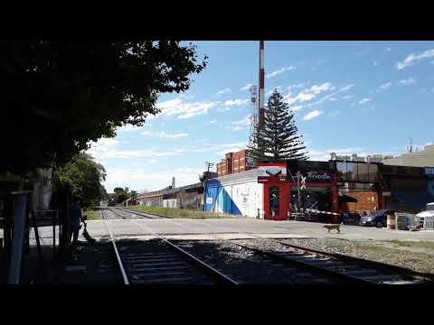 Tren procedente de Zárate arribando  a Escobar con alco rsd 39 Y dos coches turistas reformados