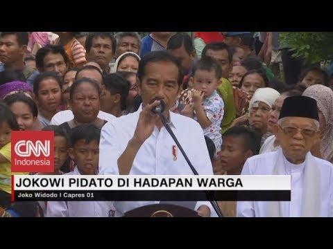 Menang Pemilu, Jokowi Ucapkan Terima Kasih di Hadapan Warga Kampung Deret