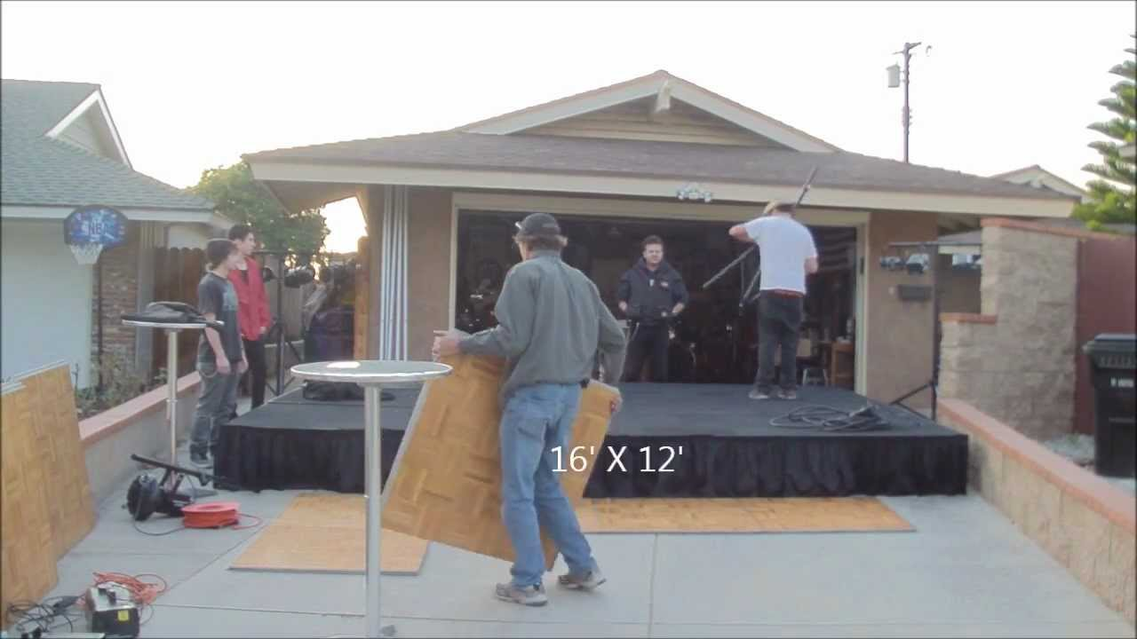 Portable Stage Set With Back Drop Youtube