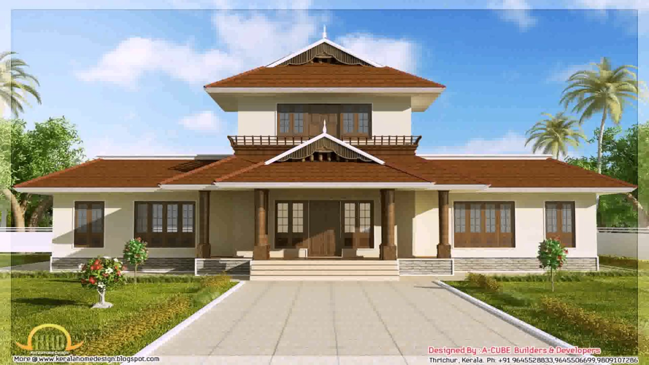 Tamilnadu style house front elevation youtube for Traditional house designs in tamilnadu
