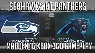 Madden 16 (Xbox 360) Playoff Game - Seahawks at Panthers Divisional Game Matchup HD