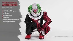 Kniehender Horrorclown Kantenhocker Halloween Animatronic - Horror-Shop.com